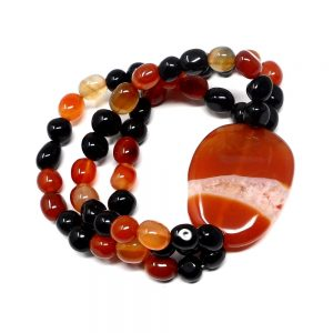 Carnelian Wafer Bracelet All Crystal Jewelry black obsidian
