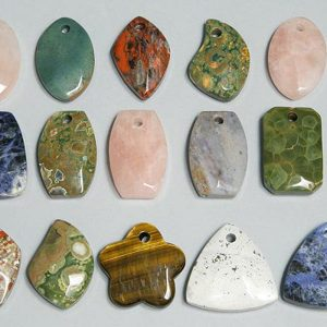 Mixed gemstone freeform – large – sheets of 25 – drilled All Crystal Jewelry