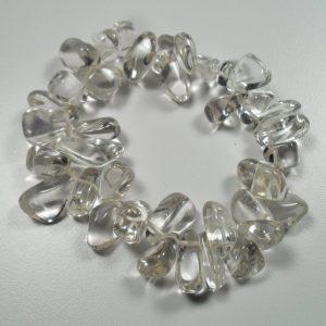 Extra clear quartz tumbled stone bracelet All Crystal Jewelry
