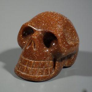 Goldstone, Skull All Polished Crystals