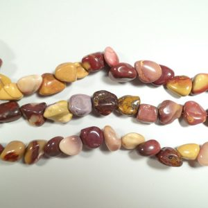 Tumbled stone strand of Mookaite All Crystal Jewelry