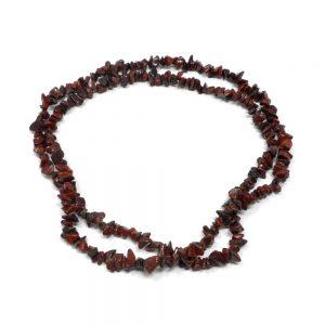 Jasper, Brecciated Chip Bead Necklace All Crystal Jewelry brecciated jasper