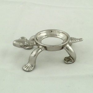 Silver colored turtle sphere stand – medium Accessories Silver colored turtle sphere sta