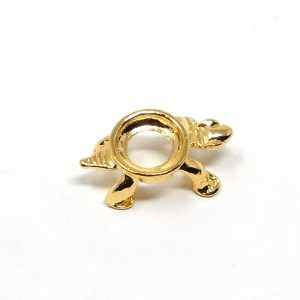 Gold colored turtle sphere stand – mini Accessories gold sphere stand