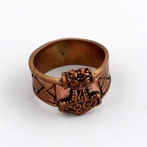 Bronze Carved Ring Size 9 All Crystal Jewelry bronze