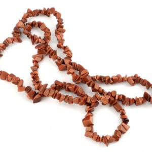 Goldstone, Red Chip Bead Necklace All Crystal Jewelry chip beads