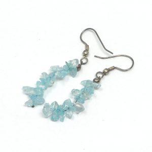 Aquamarine Chip Earrings All Crystal Jewelry aquamarine
