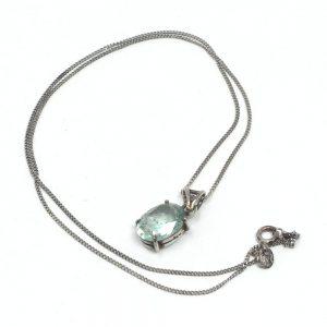 Aquamarine Necklace All Crystal Jewelry aquamarine