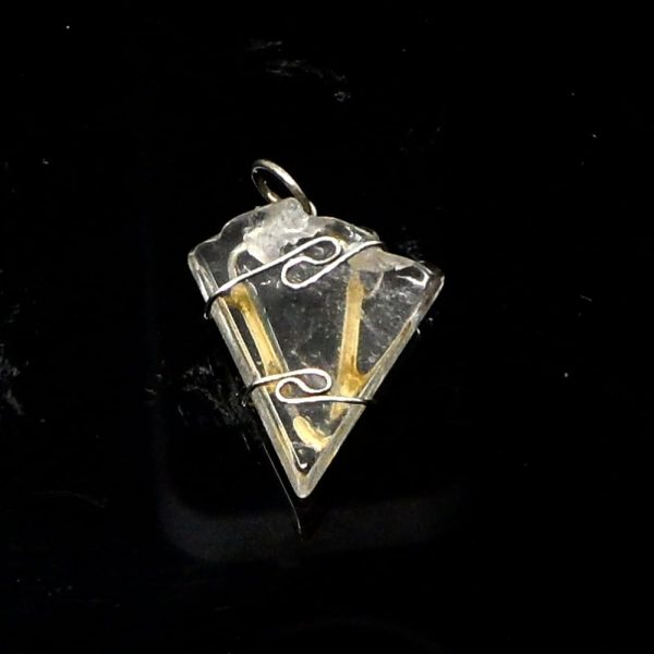 Wire Wrapped Pendant, Nirvana Quartz All Crystal Jewelry crystal pendant