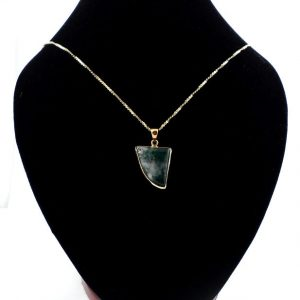 Moss Agate Bronze Pendant All Crystal Jewelry agate
