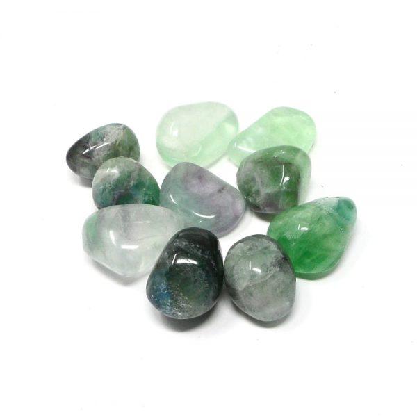 Fluorite md tumbled 8oz All Tumbled Stones bulk fluorite