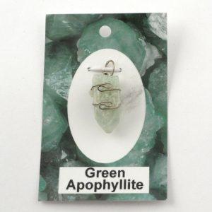 Green Apophyllite Pendant All Crystal Jewelry apophyllite
