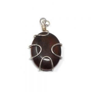 Tiger Eye Wire Wrapped Pendant All Crystal Jewelry crystal pendant