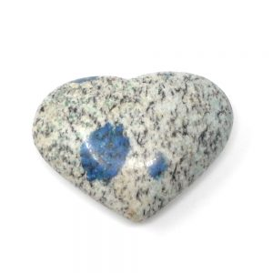 K2, Azurite in Granite, Heart All Polished Crystals azurite