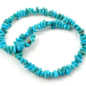 Turquoise (dyed) Chip Bead Strand All Crystal Jewelry chip bead