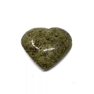 Green Epidote Heart All Polished Crystals crystal heart