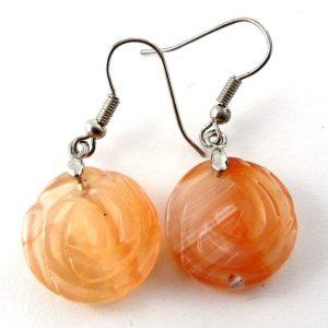 Carnelian Rosebud Earrings All Crystal Jewelry carnelian