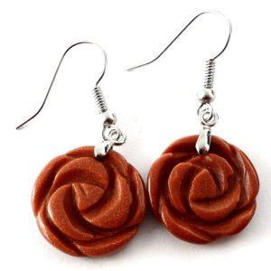 Goldstone Rosebud Earrings All Crystal Jewelry earrings