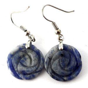 Sodalite Rosebud Earrings All Crystal Jewelry earrings