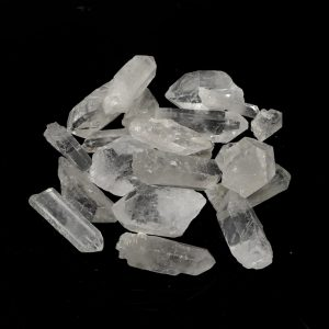 Quartz Points 0-3cm 8oz All Raw Crystals bulk clear quartz