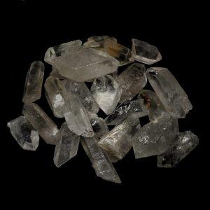 Quartz Points XQ 3-5.5cm 16oz All Raw Crystals bulk clear quartz