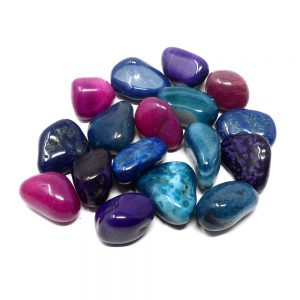 Dyed Agate xl tumbled 16oz All Tumbled Stones agate healing properties