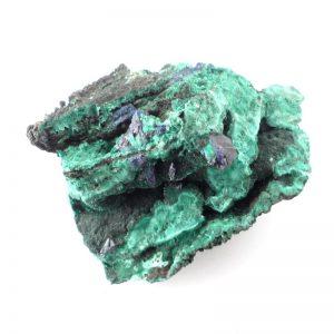 Azurite and Fibrous Malachite specimen All Raw Crystals azurite