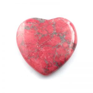 Dyed Heart, Red All Polished Crystals heart