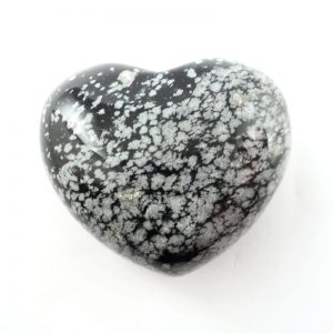 Snowflake Obsidian Heart 45mm All Polished Crystals obsidian