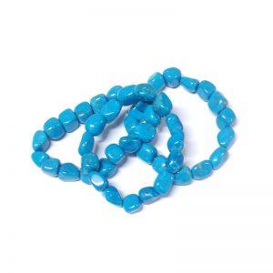 Howlite, Blue Tumbled Stone Bracelet All Crystal Jewelry blue howlite