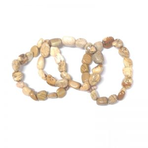 Picture Jasper Tumbled Stone Bracelet All Crystal Jewelry bracelet