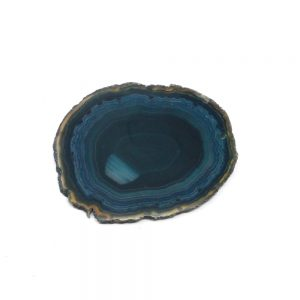 Drilled Teal Agate Slice Agate Products agate