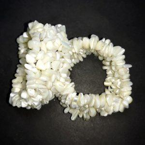 Mother of Pearl 5-Strand Chip Bracelet All Crystal Jewelry bracelet