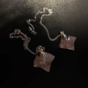 Rose Quartz Pendulum, Merkaba All Specialty Items merkaba