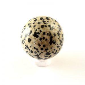 Jasper, Dalmatian, Sphere, 30mm All Polished Crystals dalmation jasper