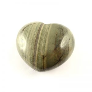 Silverlace Jasper Heart 45mm All Polished Crystals crystal heart