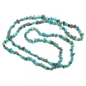 Turquoise Chip Necklace All Crystal Jewelry crystal energy work turquoise