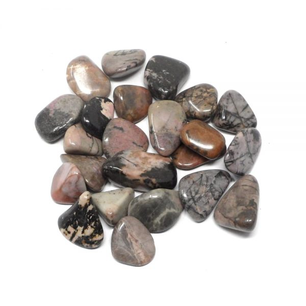 Rhodonite lg tumbled 8oz All Tumbled Stones bulk rhodonite