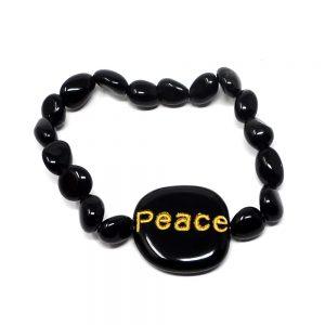 Black Obsidian Bracelet All Crystal Jewelry black obsidian