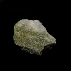 Green Tourmaline on Quartz All Raw Crystals green tourmaline