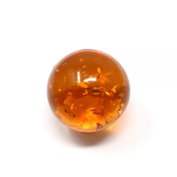 Amber Sphere 50mm All Polished Crystals amber