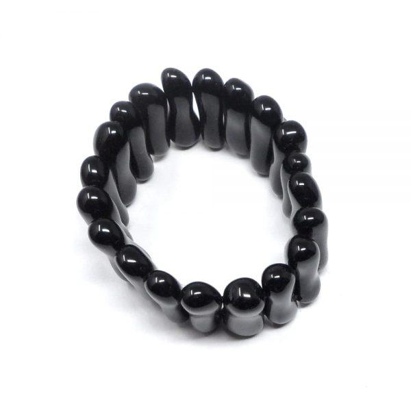 Black Obsidian Peanut Bracelet All Crystal Jewelry black obsidian