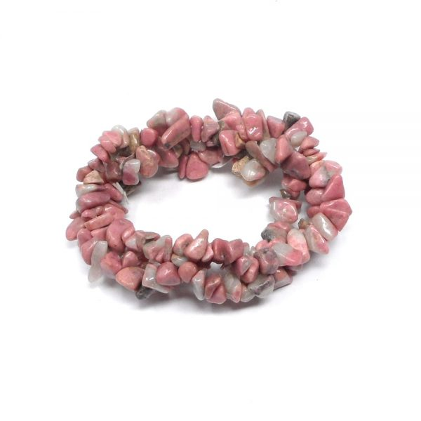 Rhodonite Three Strand Chip Bracelet All Crystal Jewelry bracelet