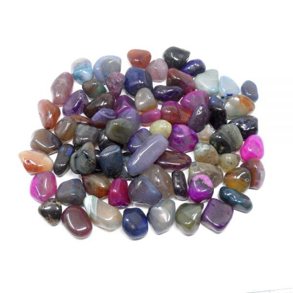 Tumbled Dyed Agate sm 16oz All Tumbled Stones bulk tumbled stones