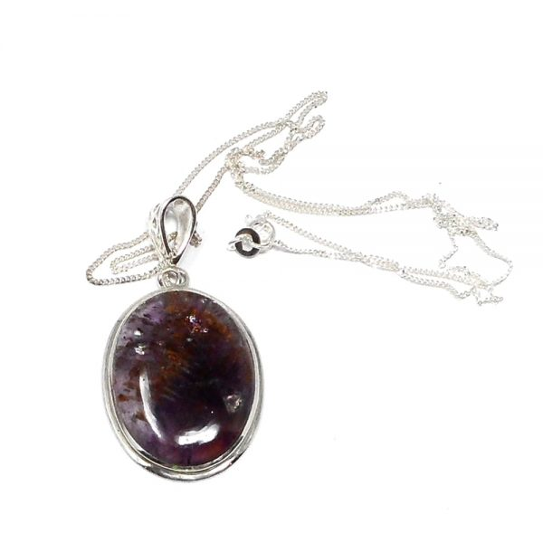 Cacoxenite Amethyst Necklace All Crystal Jewelry cacoxenite amethyst