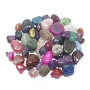 Tumbled Dyed Agate mixed sizes 16oz All Tumbled Stones bulk tumbled stones