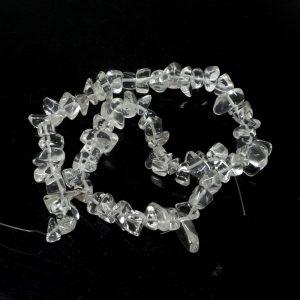 Clear Quartz Bead Strand All Crystal Jewelry clear quartz