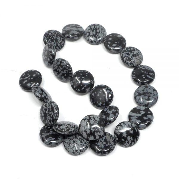 Snowflake Obsidian Bead Strand All Crystal Jewelry bead