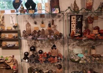polished crystals & dreamcatchers